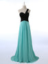 Unique Sleeveless One Shoulder Chiffon Bridesmaid Dresses Cheap Prom Dresses