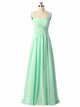Mint Green Sweetheart Backless Chiffon Bridesmaid Dresses Cheap Prom Dresses