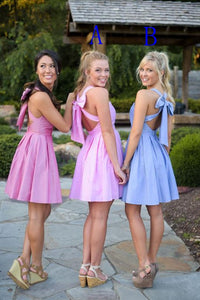 Sexy Sweetheart Cross Back Short Prom Dresses Affordable Homecoming Dresses