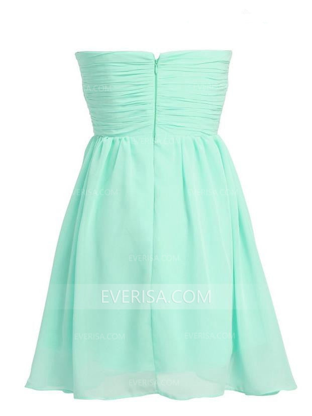 f57040788bc Mint Green Sweetheart Short Bridesmaid Dresses Cheap Cocktail Dresses With  Beaded