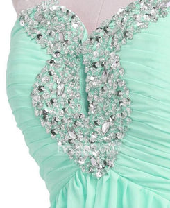Mint Green Sweetheart Short Bridesmaid Dresses Cheap Cocktail Dresses With Beaded