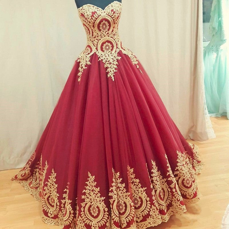 12e3a4a8665 Burgundy Lace Applique Prom Dresses