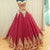 Burgundy Lace Applique Prom Dresses,A Line Quinceanera Dresses