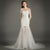 Long Sleeves Open Back Tulle Wedding Dresses Mermaid Bridal Gown