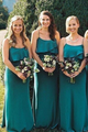 Sleeveless Spaghetti Straps Empire Ruffles Chiffon Bridesmaid Dresses - EVERISA