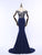Navy Blue Sweetheart Off Shoulder Prom Dresses Mermaid Formal Dresses