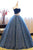 Blue Sweetheart Sleeveless Lace Prom Dresses A Line Quinceanera Dresses