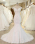 White Off Shoulder A Line Wedding Dresses, Mermaid Bridal Dresses