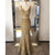 Gold Two Pieces Sleeveless Lace Prom Dresses,Mermaid Formal Dresses - EVERISA