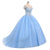 Sky Blue Off Shoulder Beaded Prom Dresses,A Line Quinceanera Dresses - EVERISA