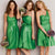 Unique Different Styles Bud Green Empire Satin Cocktail Dress Short Prom Dress