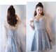 Unique V Neck Backless A Line Homecoming Dresses,Short Prom Dresses
