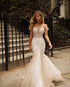 Off Shoulder Lace Appliques Wedding Dresses,Mermaid Bridal Dresses