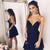 Black Sleeveless Backless Prom Dresses,Short Satin Cocktail Dresses - EVERISA