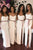 Sexy White Spaghetti Straps Side Slit Satin Prom Dress Cheap Evening Dresses