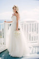 Spaghetti Straps Sleeveless Wedding Dresses,A Line Tulle Bridal Gown