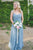Charming Sky Blue Sweetheart Sleeveless Tulle Bridesmaid Dresses Long Prom Dresses - EVERISA