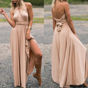 Deep Champagne Long Convertable Dress,Infinity,Multiway Bridesmaids Dress