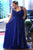 Royal Blue Sweetheart Sleeveless Prom Dresses Plus Size Bridesmaid Dresses