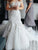 2018 White Off Shoulder Backless Lace Wedding Dress Mermaid Bridal Gown - EVERISA