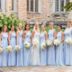 Elegant Pale Blue One Shoulder Floor-Length Chiffon Bridesmaid Dresses Evening Dresses - EVERISA
