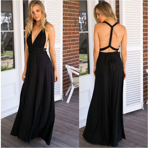 Black Long Convertable Dress,Infinity,Multiway Bridesmaids Dress