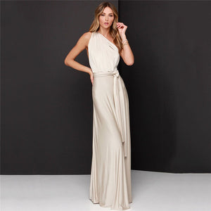 Ivory Infinity Dress ,Multiway Bridesmaids Dress,Long Convertable Dress