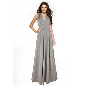 Flecking Gray Multiway ,Infinity Bridesmaids Dress Dress,Long Convertable Dress