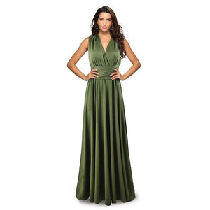 Army green Infinity Bridesmaids Dress Dress,Multiway,Long Convertable Dress