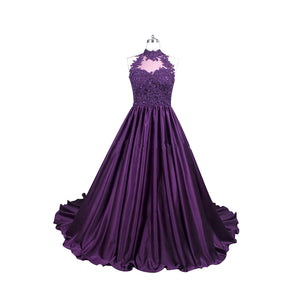 Unique Sleeveless Open Back A Line Prom Dresses Cheap Evening Dresses