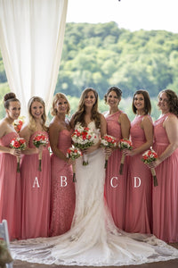Fashion Sleeveless Chiffon Bridesmaid Dresses Affordable Prom Dresses - EVERISA