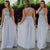 Scoop Neck Chiffon Bridesmaid Dresses Sleeveless Long Prom Dresses