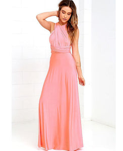 Pink Multiway,Infinity Bridesmaids Dress,Convertable Dress