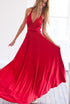 Red Long Multiway Bridesmaids Dress ,Infinity Dress,Convertable Dress