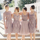 Different Style Lace Short Prom Dress A Line Cheap Bridesmaid Dresses