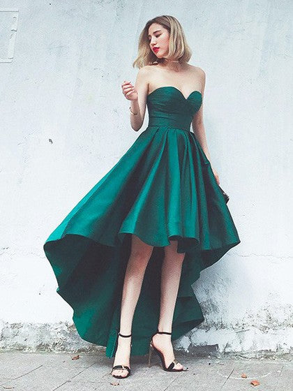 strong packing wide varieties special selection of Green Sweetheart Sleeveless Prom Dresses,High Low Evening Dresses