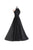 Fashion Black Halter Chiffon Bridesmaid Dress Cheap Prom Dress - EVERISA