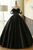 Black Off Shoulder Backless Prom Dresses,Satin Long Quinceanera Dress - EVERISA