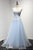 Blue Sweetheart Lace Prom Dresses,Sleeveless A Line Graduation Dresses