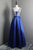 Royal Blue Sleeveless A Line Satin Prom Dresses,Sequin Evening Dresses