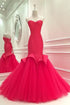 Sweetheart Sleeveless Mermaid Prom Dresses,Backless Formal Dresses