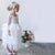 White Long Sleeves A Line Flower Girl Dresses Lace Little Girl Dresses - EVERISA