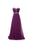 Unique Purple Empire Waist Backless Chiffon Prom Dress Long Bridesmaid Dresses - EVERISA