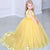 Yellow V Neck Appliques Flower Girl Dresses Sleeveless Little Girl Dresses - EVERISA