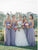 Elegant Lavender Sweetheart Floor-Length Chiffon Bridesmaid Dress Cheap Evening Dresses