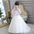 Long Sleeve Off Shoulder Lace Appliques A Line Flower Girl Dresses