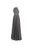 Elegant Gray Empire Waist Backless Chiffon Prom Dress Bridesmaid Dress With Beading - EVERISA