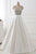 Fashion White V-Neck Open Back Satin Prom Dress Long Evening Dresses - EVERISA