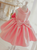 Scoop Neck Sleeveless A Line Short Satin Flower Girl Dresses With Bowknot
