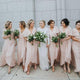 Elegant Light Pink V Neck Floor-Length Chiffon Prom Dress Affordable Bridesmaid Dresses